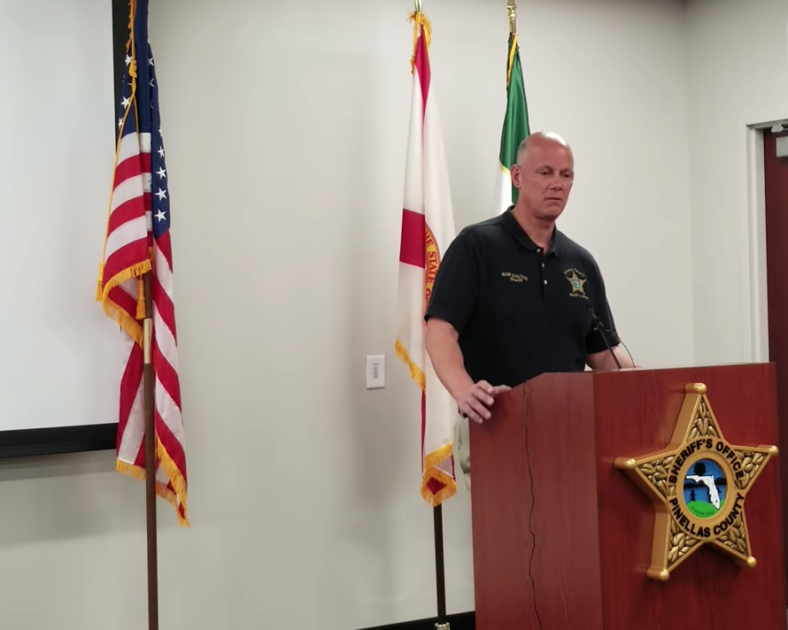 Pinellas County Sheriff Bob Gualtieri briefs the press on July 20, 2018.