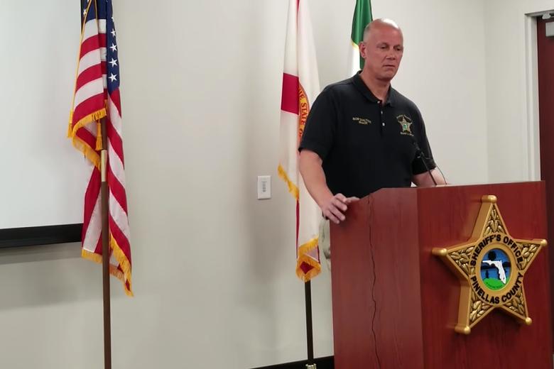 Pinellas County Sheriff Bob Gualtieri briefs the press on July 20, 2018.