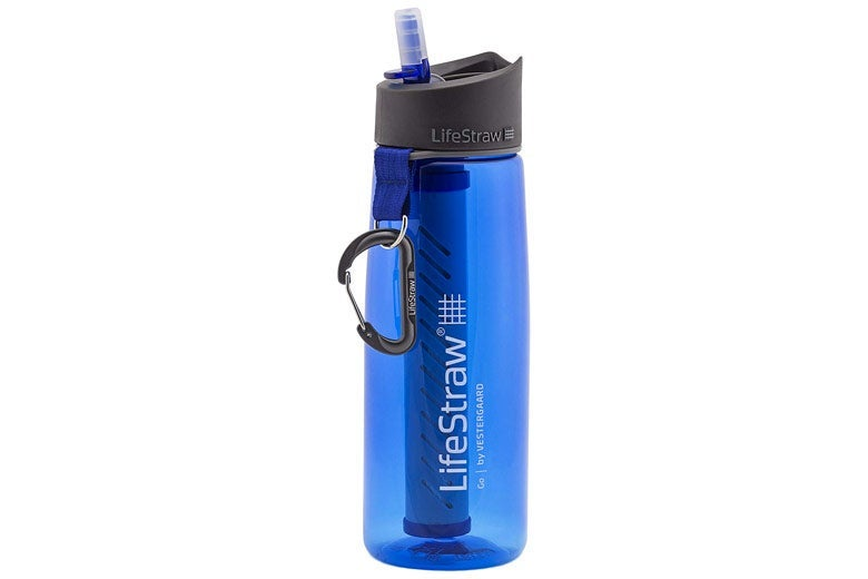 Water filter bottle.