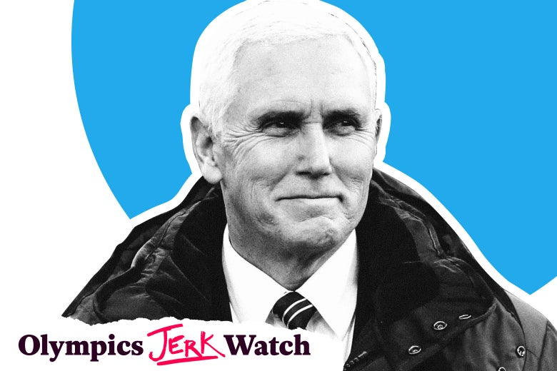 Mike Pence, plus the Olympics Jerk Watch logo.