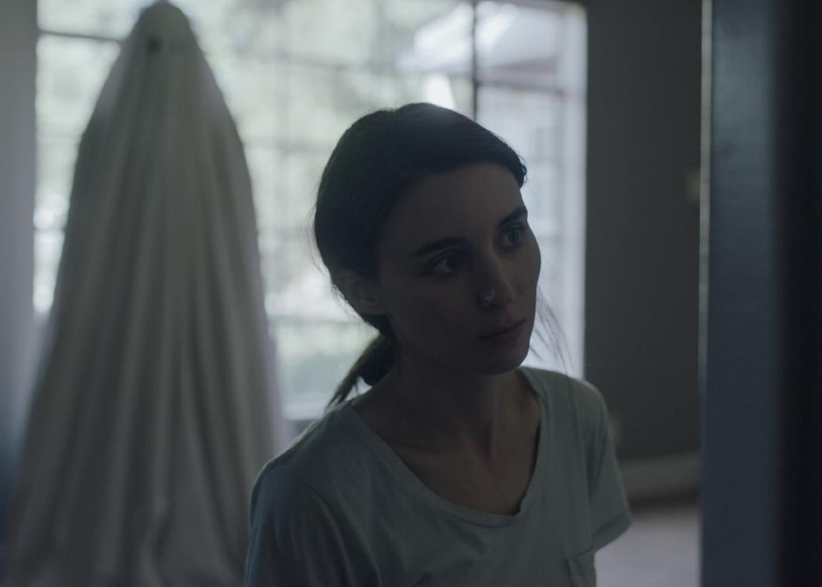 Rooney Mara, seen here pie-less, in A Ghost Story.