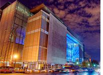 Newseum at night. Click image to expand.
