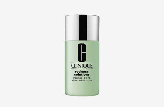 Clinique Redness Solutions Makeup Broad Spectrum SPF 15 With Probiotic Technology.