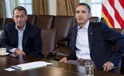 Speaker of the House John Boehner and President Barack Obama. Click image to expand.