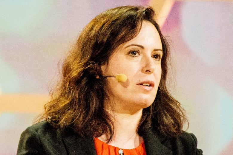 "Journalist Maggie Haberman, White House correspondent for the New York Times, speaks at the ""Nobel Week Dialogue: the Future of Truth"" conference at Svenska Mässan on Dec. 9 in Gothenburg, Sweden."