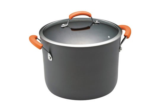 Rachael Ray Hard Anodized II Nonstick Dishwasher Safe 10-Quart Covered Stockpot.