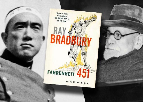 Yukio Mishima, Ray Bradbury's Farenheit 451, Sigmund Freud.