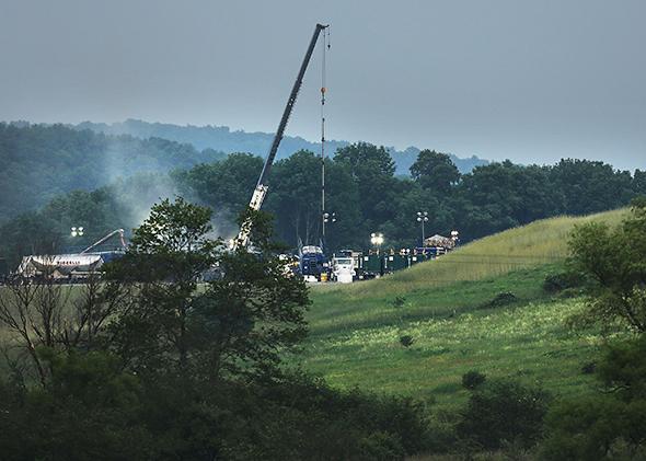 Fracking, South Montrose, Pennsylvania.