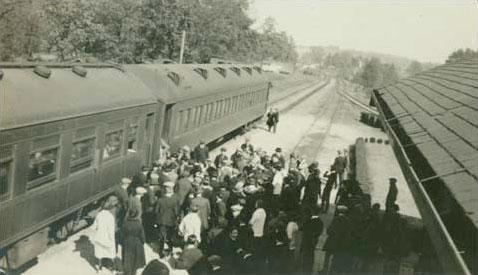 Oxford, Mississippi train depot.