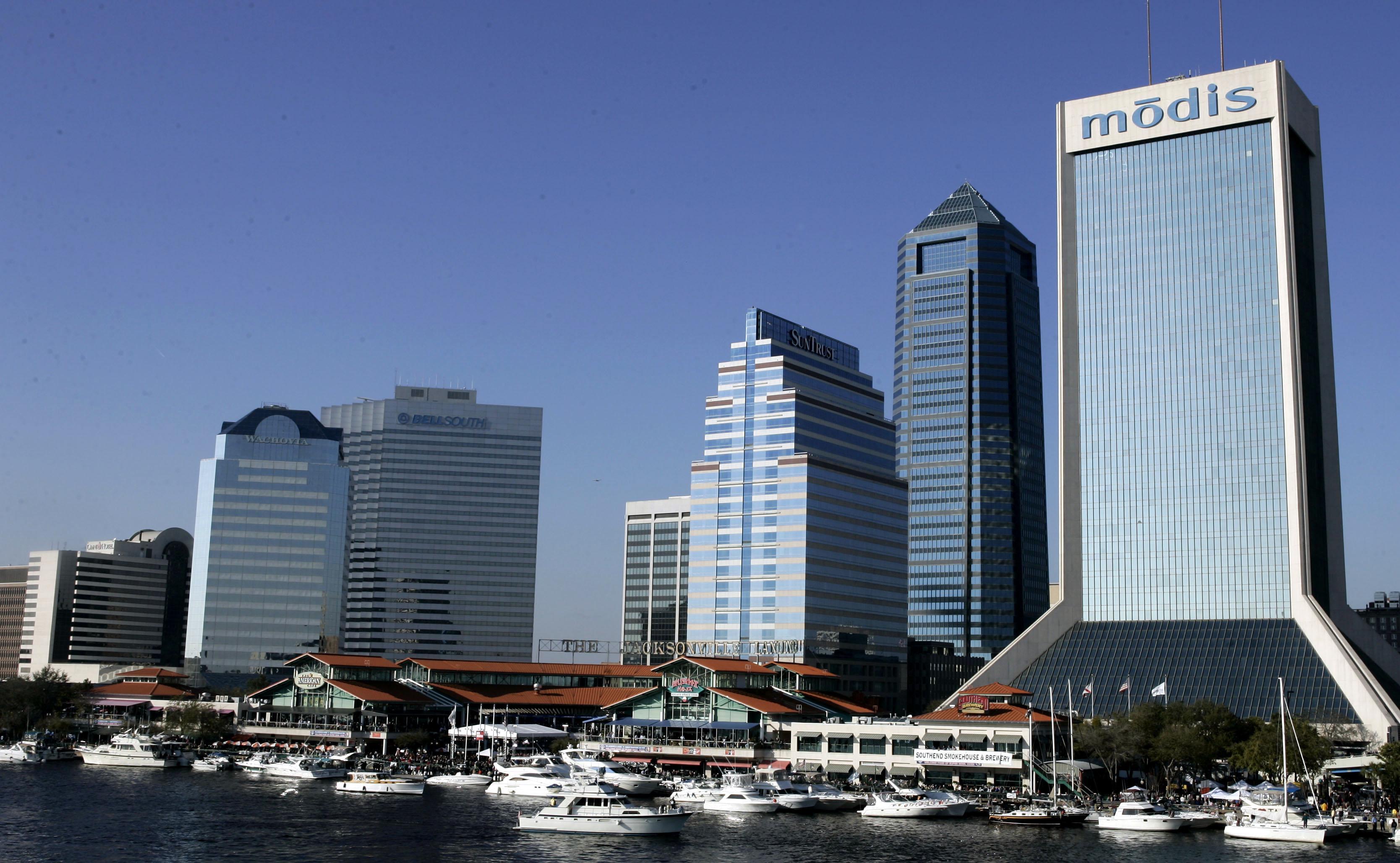 Downtown Jacksonville, Fla., in 2005