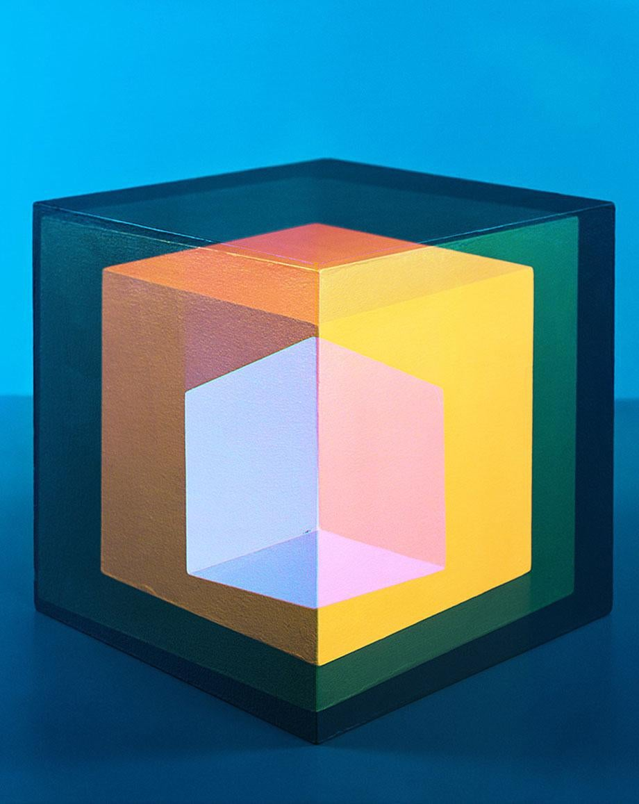 Jessica Eaton's polytopes at M+B gallery in los angeles.