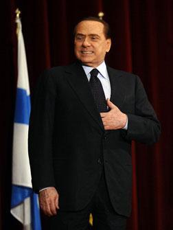 Italian Prime Minister Silvio Berlusconi. Click image to expand.