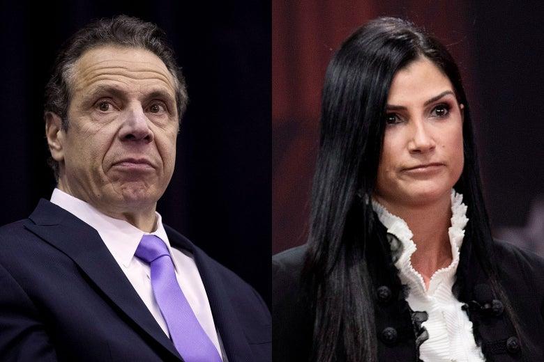 New York Gov. Andrew Cuomo and NRA spokeswoman Dana Loesch.