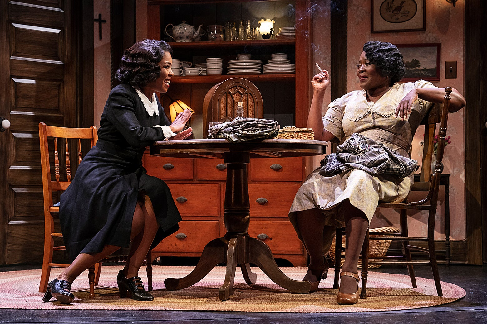 Jessica Frances Dukes and Heather Alicia Simms in the Signature Theatre's revival of By The Way, Meet Vera Stark