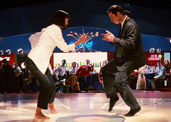 Uma Thurman and John Travolta in Pulp Fiction