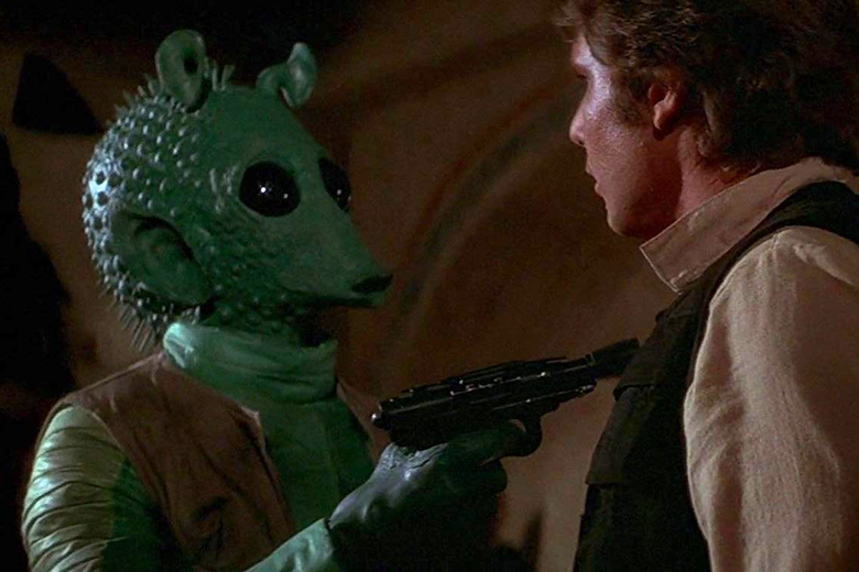 "In Latest Version of Star Wars' ""Han Shot First"" Scene, George Lucas Adds ""Maclunkey"""