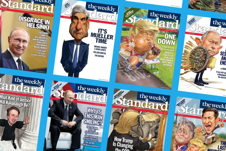 Grid of Weekly Standard magazine covers.