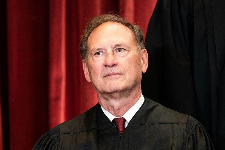 Alito sitting in his robes