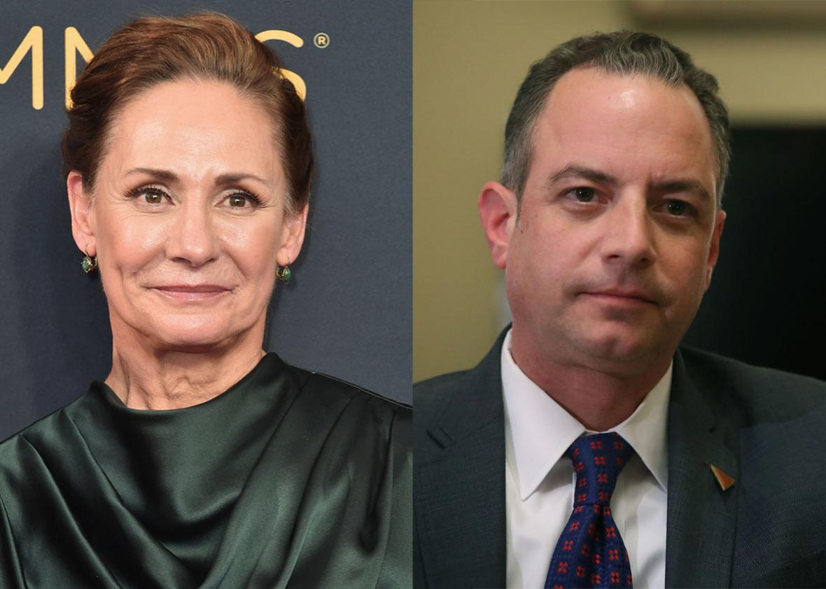 Laurie Metcalf Reince Priebus.