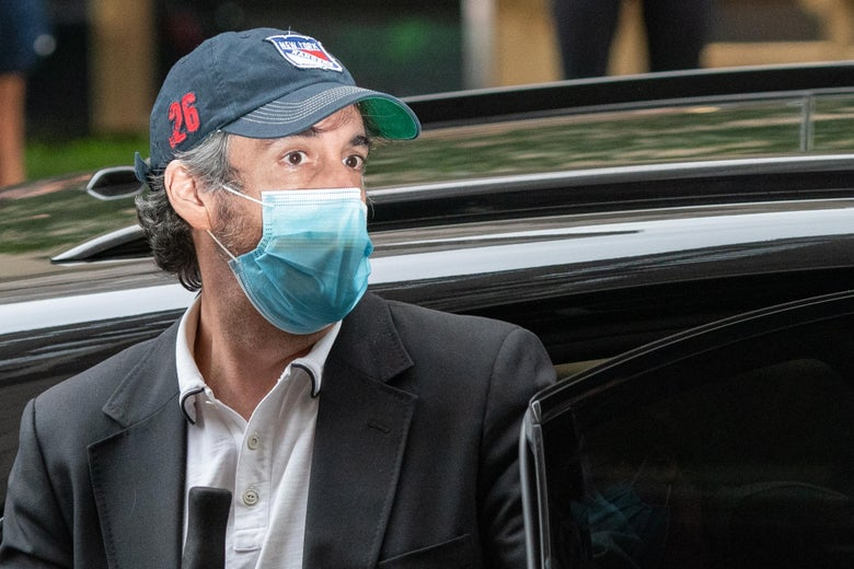 Michael Cohen, President Trump's former attorney arrives at his Park Avenue home after being released from federal prison on July 24, 2020 in New York City.