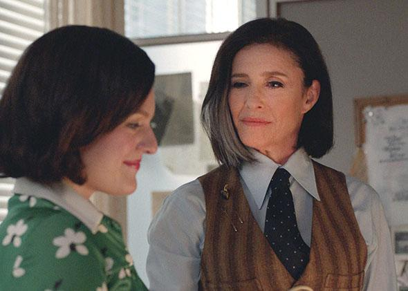 Elisabeth Moss as Peggy Olson and Mimi Rogers as Pima in Mad Men.