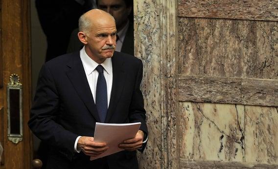 Greek Prime Minister George Papandreou.