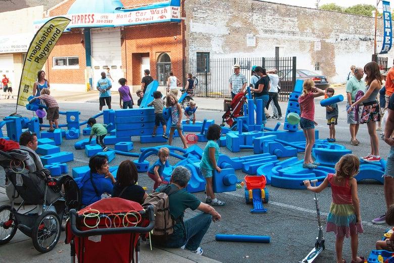 Imagination Playground blocks in Chicago.