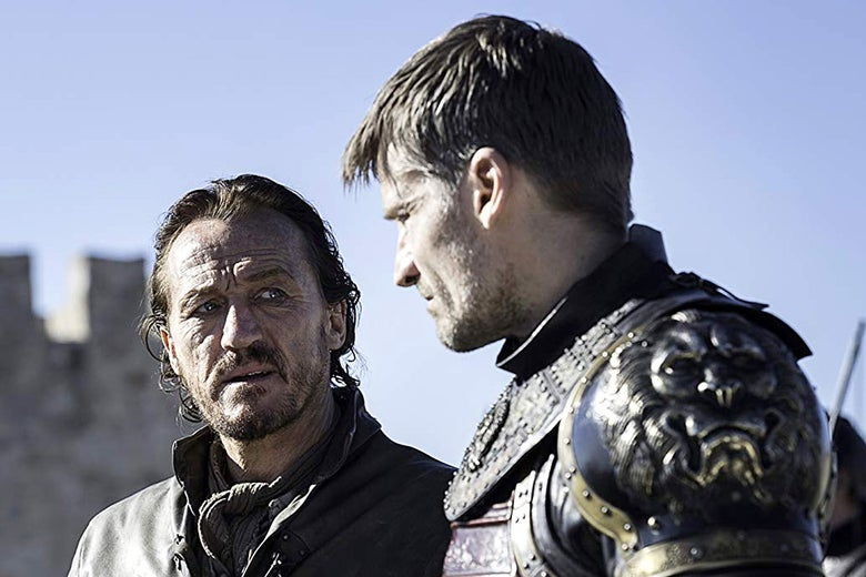 Nikolaj Coster-Waldau and Jerome Flynn in Game of Thrones.