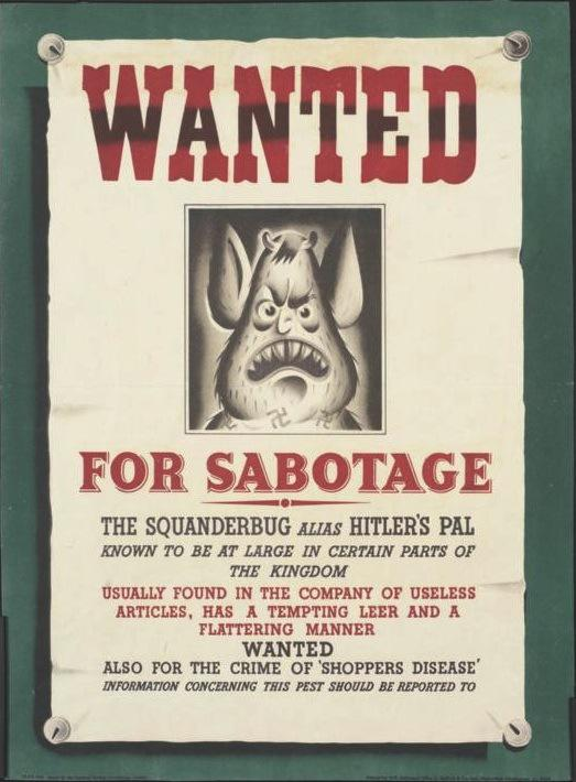squander bug wanted poster