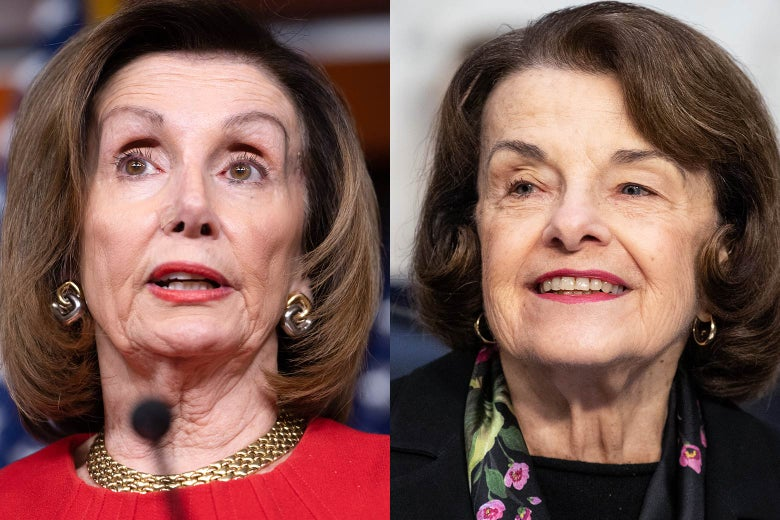 Nancy Pelosi and Dianne Feinstein.