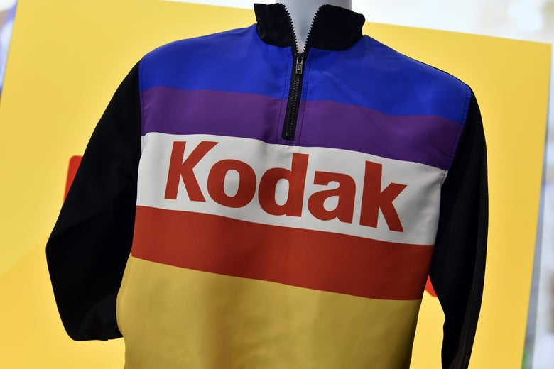 A jacket with a Kodak logo