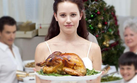 Small Thanksgiving dinner.