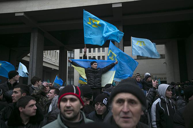 Crimean Tatars at Crimean Parliament