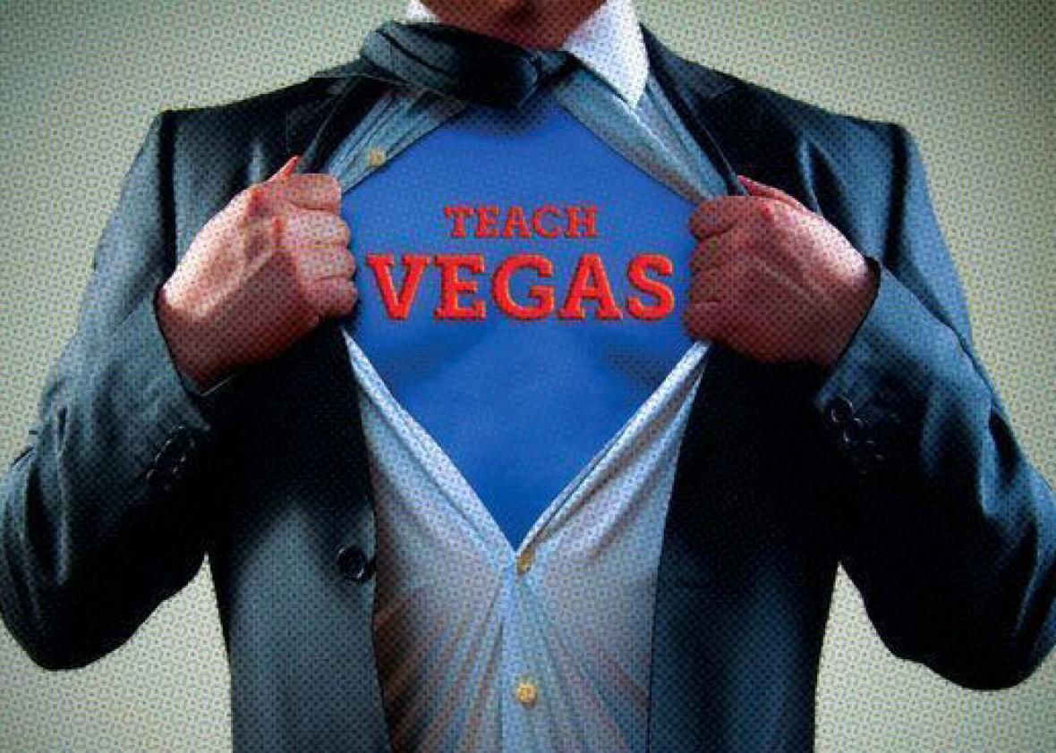 The Teach Vegas logo.