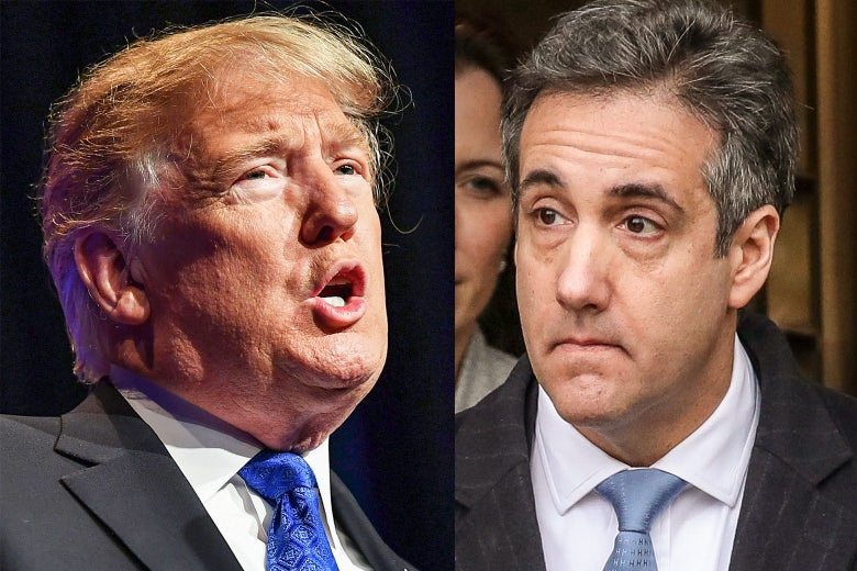 Donald Trump and Michael Cohen.