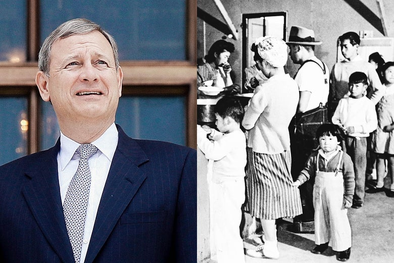 Chief Justice John Roberts, an internment camp for Japanese Americans from California.