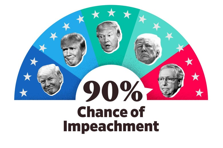 The Impeach-O-Meter is set at 90 percent.