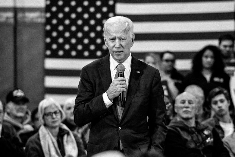 Joe Biden speaks during a town hall.
