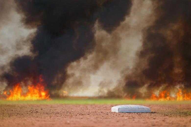 Why Do People Keep Lighting Baseball Fields on Fire?