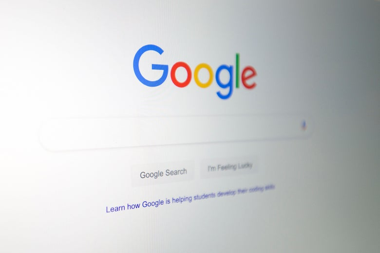 The Google logo is seen on a computer screen in a photo illustration