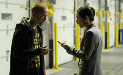 Jesse Pinkman (Aaron Paul) and Lydia (Laura Fraser).