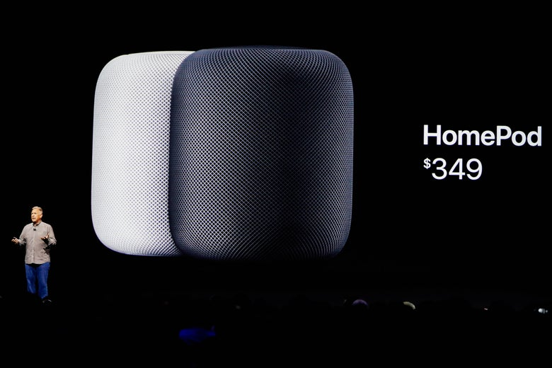 Apple HomePod announced during the annual Worldwide Developer Conference, June 2017.