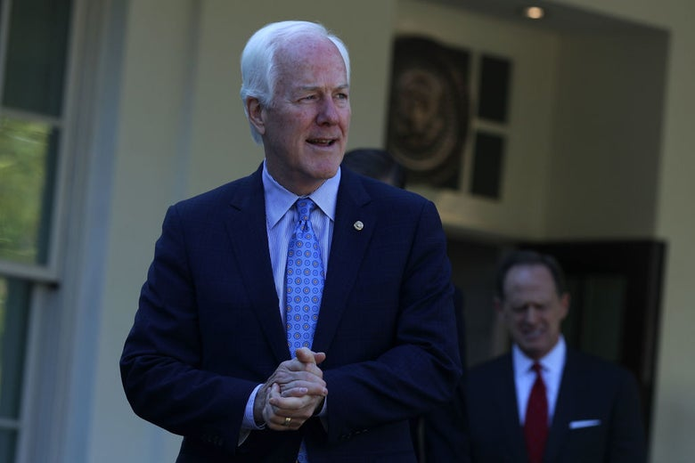 John Cornyn at the White House on Oct. 18.
