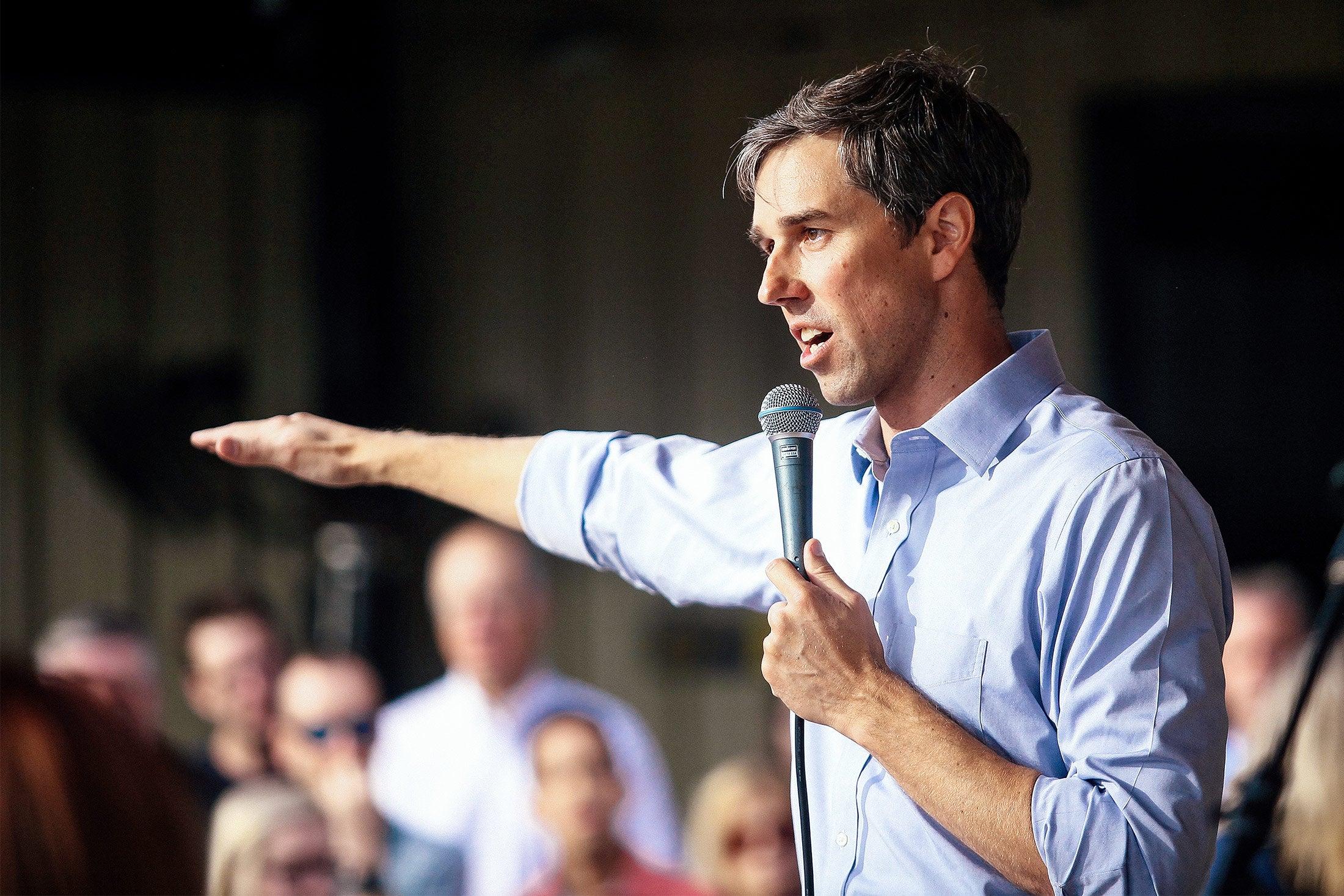 U.S. Rep. Beto O'Rourke campaigns in Houston.
