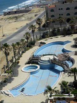 Empty pool in Gaza. Click to expand image.