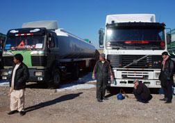 Afghani long distance lorry drivers. Click image to expand.