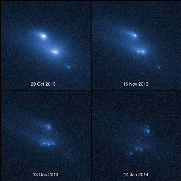 asteroid disintegrates