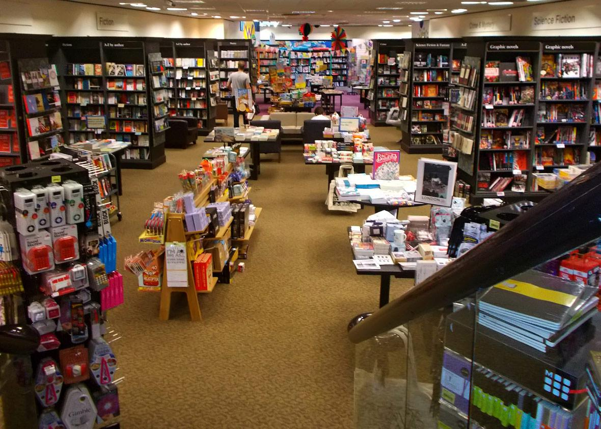 Waterstones in Surrey, England.