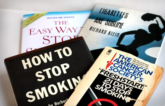 "The Easy Way to Stop Smoking, Cigarettes Are Sublime, How to Stop Smoking, and The American Cancer Society's ""Freshstart:"" 21 Days to Stop Smoking."