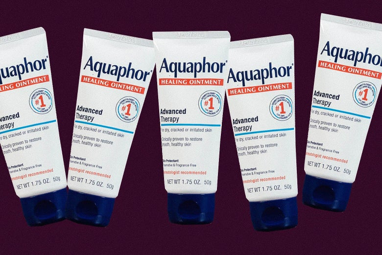 Five tubes of Aquaphor Healing Ointment